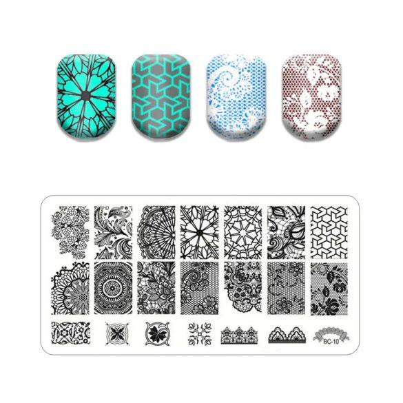 Pečiatkovacia platňa vo veľkosti 6x12 cm -BC10