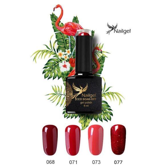 Výber červených farieb, 4 ks CCO kvalitná sada gél lakov