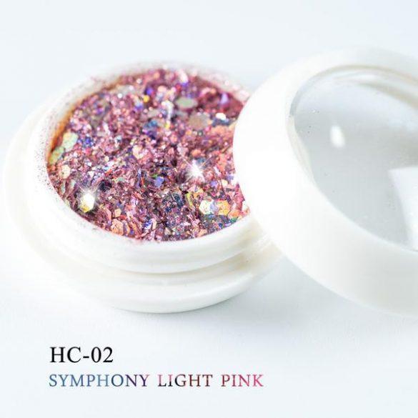 Dekoratívne flitre, svetlá ružová farba, šesťhranné, zmiešaná veľkosť