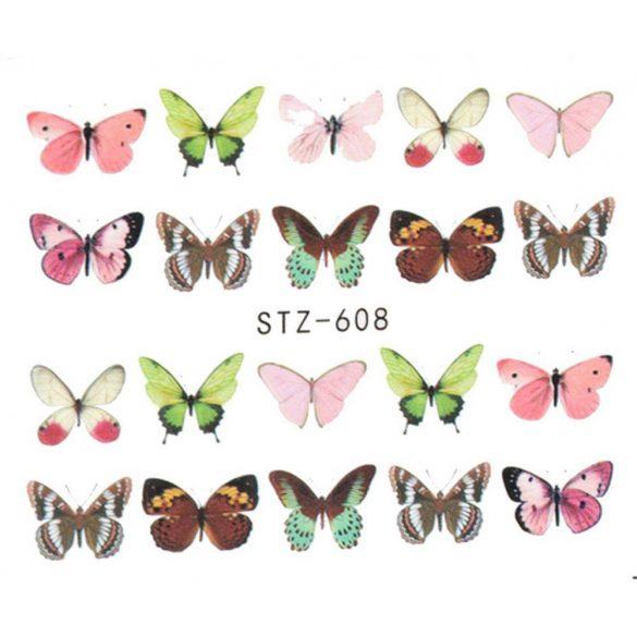 Nálepka na nechty motýľ 1